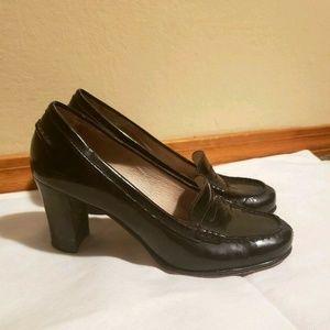 Michael Kors Bayville Loafer Pumps Black Heels